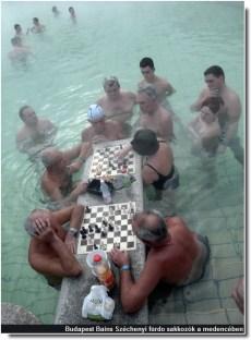 Budapest Széchényi furdo joueurs d'échecs