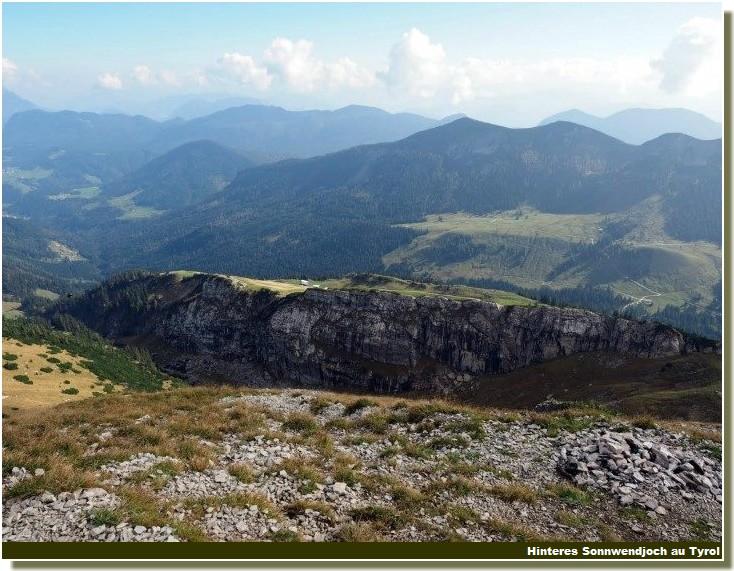 massif Hinteres Sonnwendjoch au Tyrol autriche
