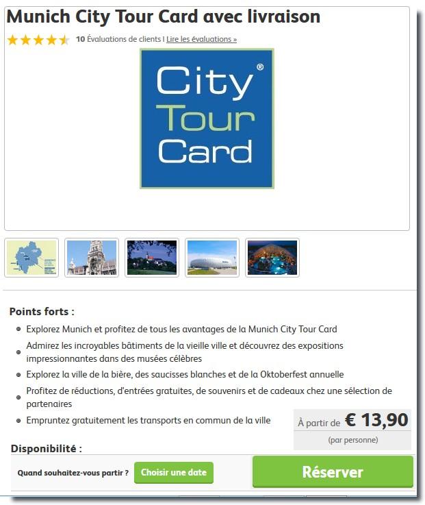 munich city tour card