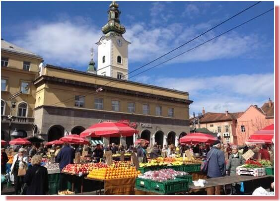 Zagreb marché de Dolac