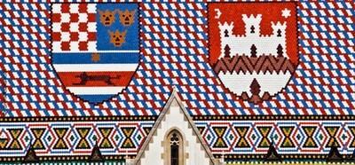 Zagreb toiture de l'église saint Marc