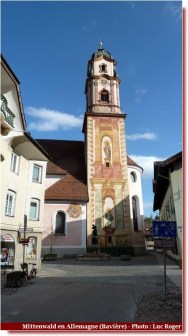 Mittenwald clocher de l'église