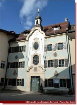 Mittenwald façade et porte