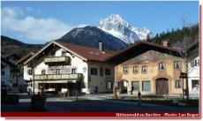 Mittenwald maisons aux facades décorées