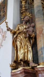 Mittenwald statue dans l'église