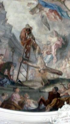 mittenwald eglise peinture christ sur la croix