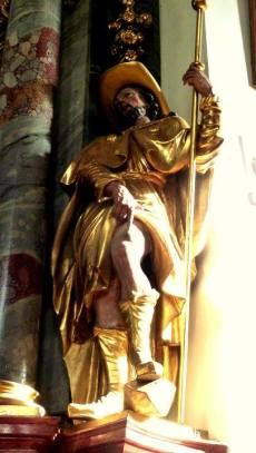 mittenwald statue eglise
