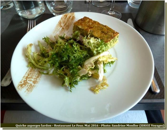 Restaurant le Four Castelnaudary Quiche asperges lardons