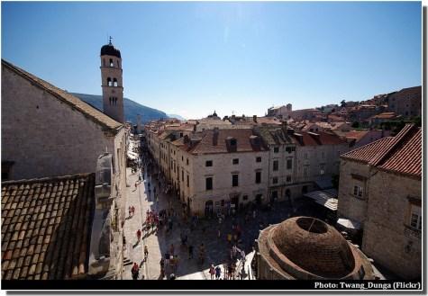 Dubrovnik depuis les remparts stradum