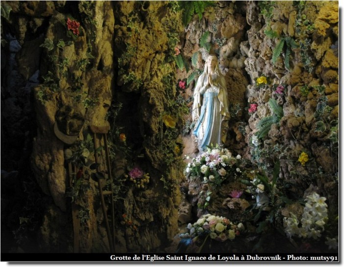 dubrovnik eglise saint ignace de loyola grotte