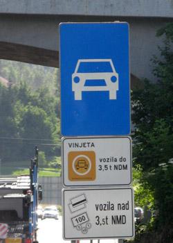 Vinjeta vignette autoroute en slovénie
