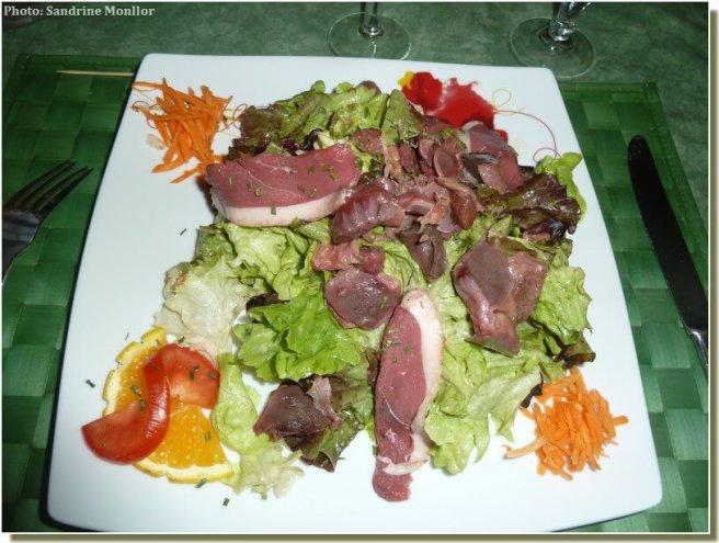 restaurant le petit Gazouillis salade lauragaise