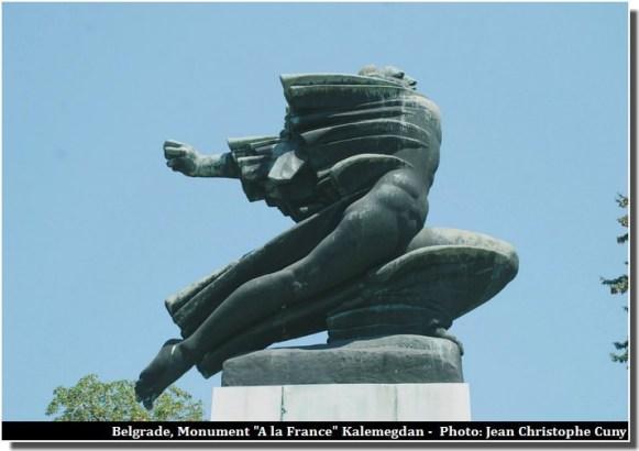 Belgrade Monument A la France Kalemegdan