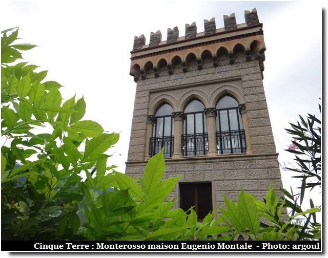 Cinque terre Monterosso maison eugenio montale