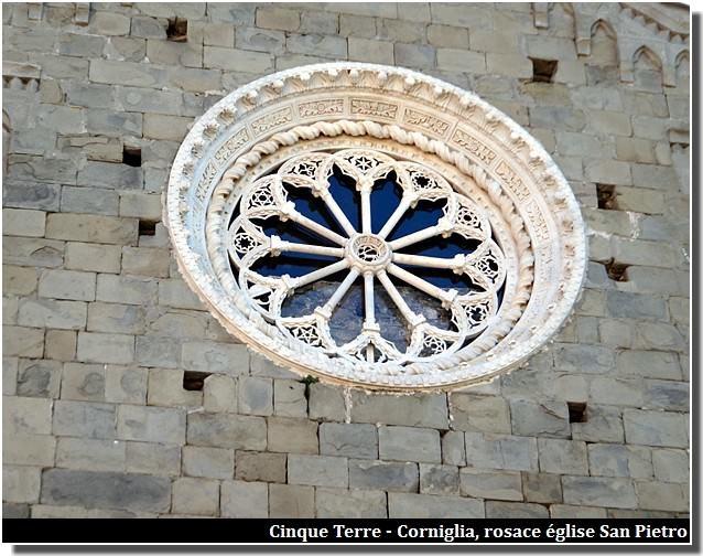 corniglia rosace église san pietro