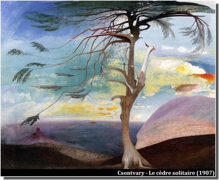 Csontvary Le cèdre solitaire (1907)
