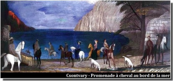Csontvary Promenade à cheval au bord de la mer