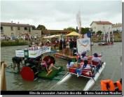 course aux ofni sur le canal du midi pendant la fête du cassoulet de Castelnaudary