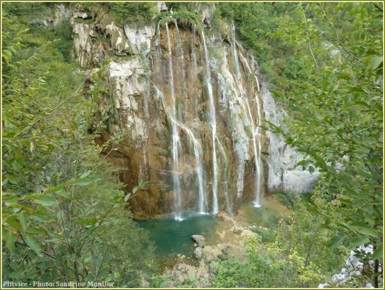 Chutes au parc national de Plitvice