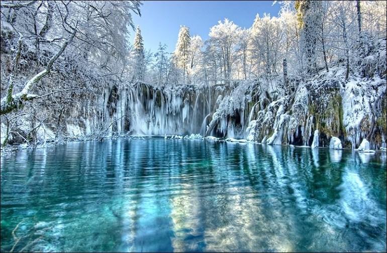 Plitvice sous la neige