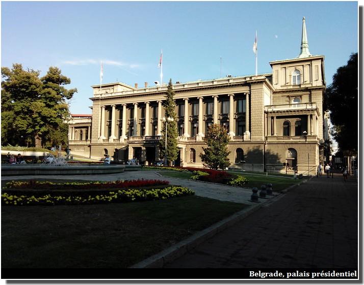 Belgrade palais presidentiel