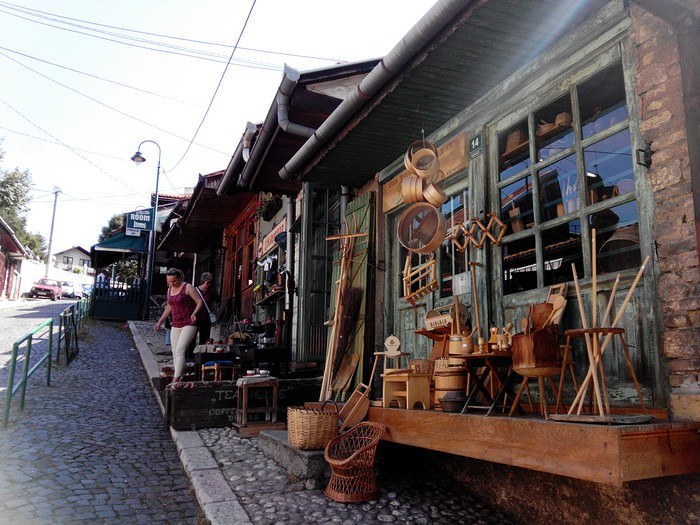 Sarajevo echoppes du vieux quartier turc