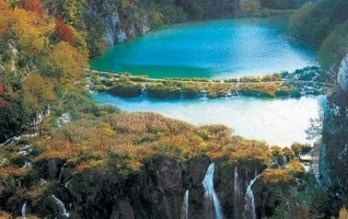 lacs de Plitvice en automne