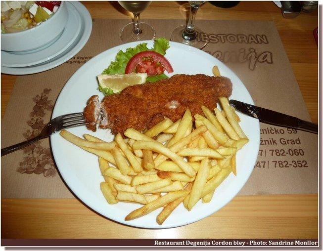 Restaurant Degenija Rakovica Cordon bleu