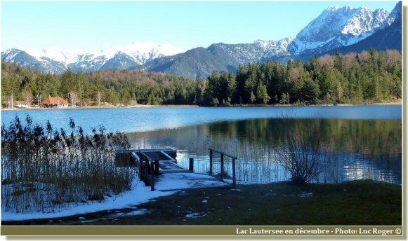 Bord du lac Lautersee en décembre
