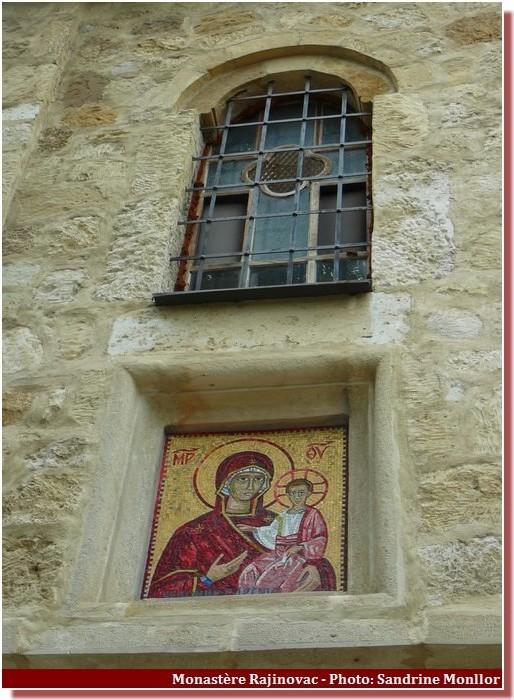 Monastère Rajinovac mosaique de la nativité