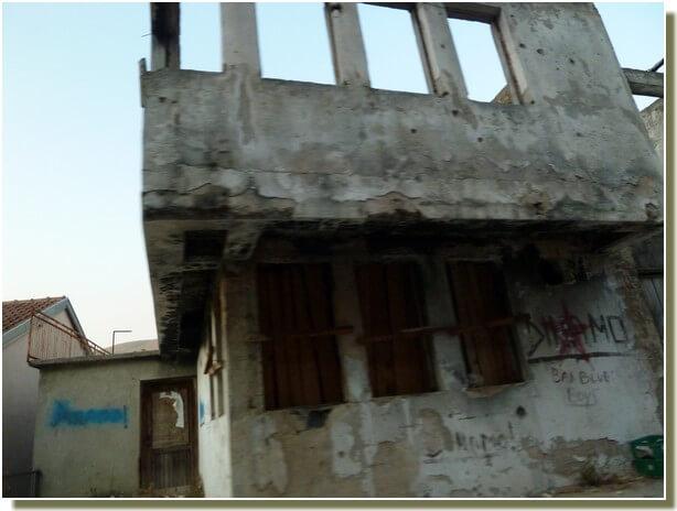 Maison détruite à Stolac