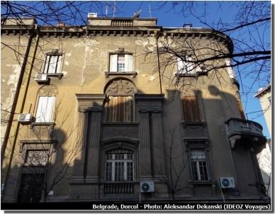 Belgrade Dorcol facade de maison dégradée