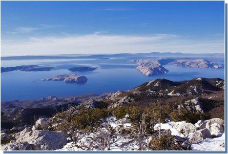 Nord Velebit vue sur le Kvarner