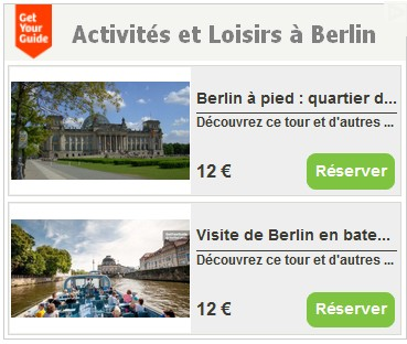visites guidées et activités à Berlin