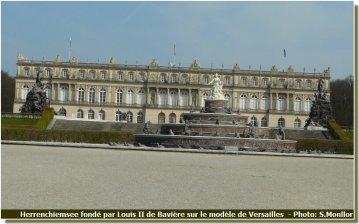 Chateau Herrenchiemsee sur le modèle de Versailles de Louis II de Bavière