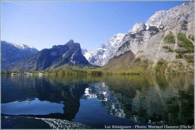 Lac Konigssee reflets des alpes bavaroises