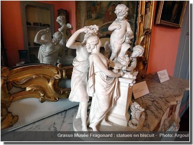 Grasse Musée Fragonard statues en biscuit erotique