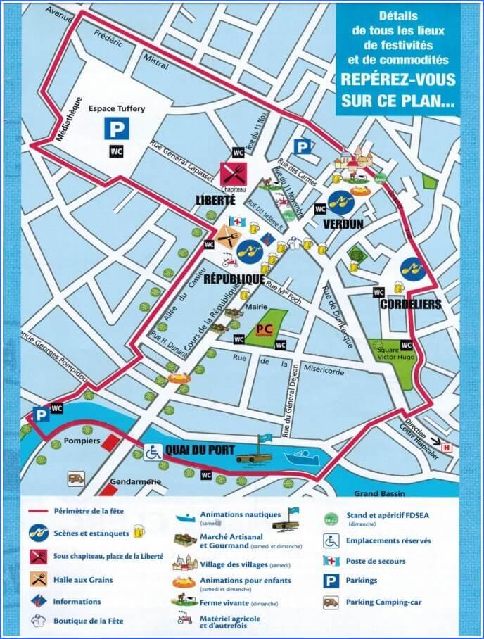 Plan fête du cassoulet de Castelnaudary