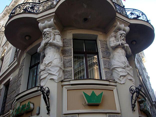 Riga balcon style art nouveau