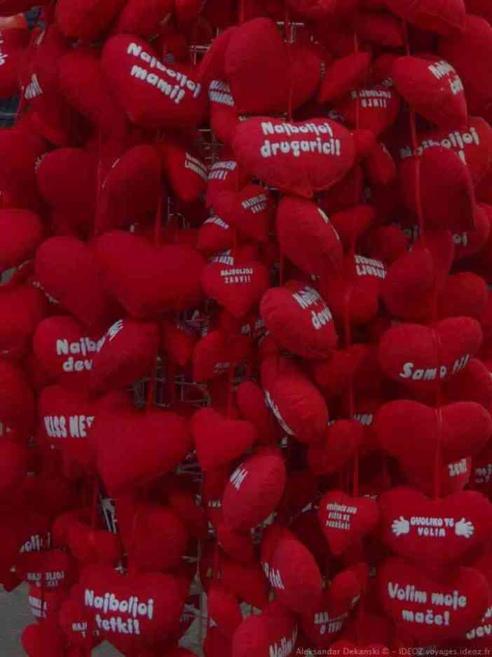 Coeurs souvenirs de Belgrade sur Knez Mihailova