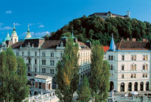 Ljubljana château et vieille ville