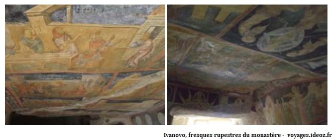 Monastère d'Ivanovo fresques religieuses