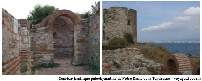 Nesebar basilique paléobyzantine de Notre Dame de la Tendresse