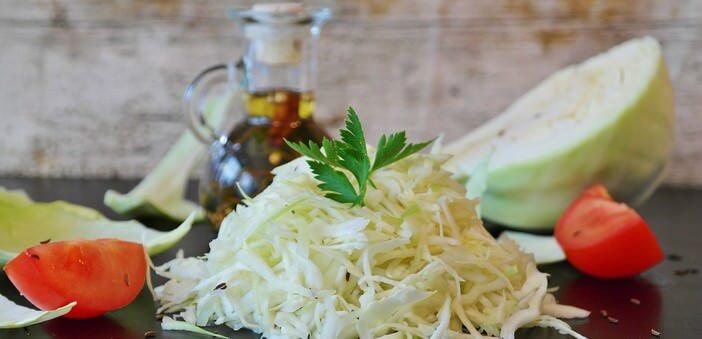salade de chou blanc à l'allemande