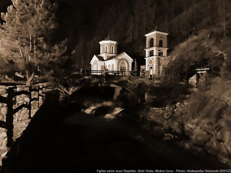 Eglise saint Jean Baptiste Bele vode près de Mokra gora