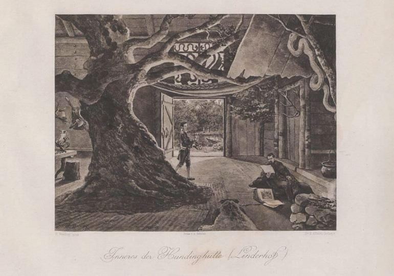 Heinrich Christoph Gottlieb Breling Peinture Louis II à Linderhof Hundinghutte