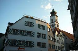Clocher d'une église dans le centre de Lindau