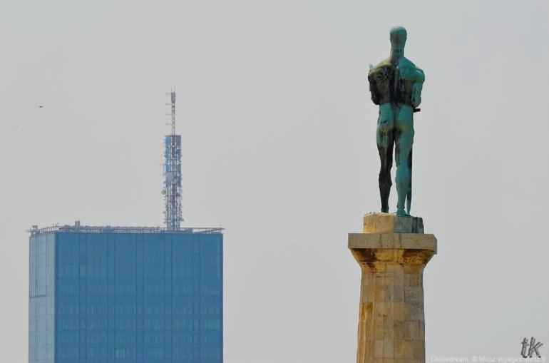 Statue de la victoire à Belgrade