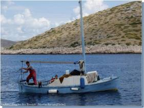 Barque de pêcheurs dans les iles Kornati