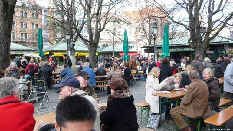 Biergarten de Viktualienmarkt à Munich